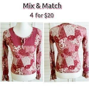 Bell Sleeve Top Pinks ESPRIT Sz S